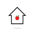 house cartoon with apple vector image