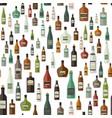 bottles pattern of drinks vector image