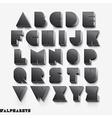 3D alphabet black color vector image vector image