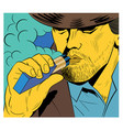 a man in a pop art comic with vector image