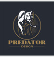 a puma or panther walks vector image vector image