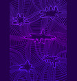 abstract wave gradient ornament violet and dar vector image vector image