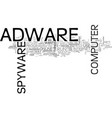 adware what it can do to you text word cloud vector image vector image