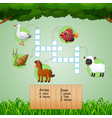 animal farm crossword puzzles for kids games vector image