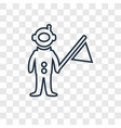 astronaut and flag concept linear icon isolated vector image