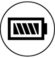 Battery icon - flat design Eps 10 vector image