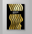 black and gold design templates vector image