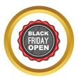 Black Friday sale badge icon vector image