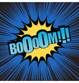 Boom comic text vector image vector image