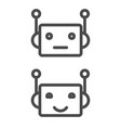 bot icon chatbot icon concept cute smiling robot vector image