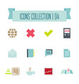 buttons icon set web symbol set vector image