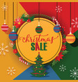 christmas sale merry xmas discount for vector image vector image