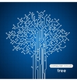 Circuit Board Tree vector image