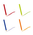 colored pencils isolated over white background vector image