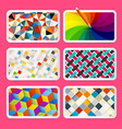colorful backgrounds design vector image vector image
