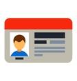 Driving national license flat vector image