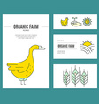 Farming Business Identity vector image vector image