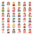 female office character business people in flat vector image vector image