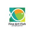 Fine Art Fish Logo vector image vector image