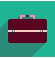 Flat icon with long shadow business bag vector image vector image
