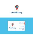 flat map navigation logo and visiting card vector image vector image