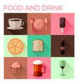 food and drink flat icon vector image vector image