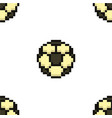 football seamless pattern tile soccerball pixel vector image vector image