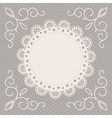 greeting card or wedding invitation with a napkin vector image