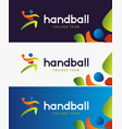 handball banner abstract colorful vector image vector image