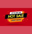 hot sale fire burn template banner concept design vector image