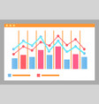 infographics and charts on paper falling rising vector image