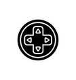 joystick round icon black vector image