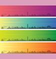 kingston multiple color gradient skyline banner vector image