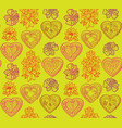 love heart seamless pattern holiday greeting vector image vector image