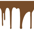 melting chocolate dripping on white background vector image