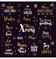 Merry Christmas Lettering Set vector image