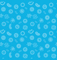 microbiology blue seamless pattern in thin vector image