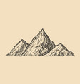 mountain landscape sketch natural landscape vector image