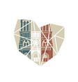 notre dame de paris cathedral in colors vector image vector image