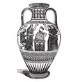 olla is a pot a jar vintage engraving vector image vector image