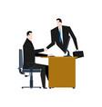 online business web agreement handshake vector image vector image