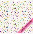 pattern with festive multi-colored confetti vector image vector image