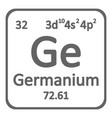periodic table element germanium icon vector image vector image