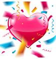 pink heart on white background vector image