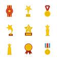 praise icons set cartoon style vector image