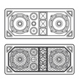 professional concert tour array speakers dark vector image