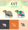 rat chinese low poly animals low poly logo icon vector image