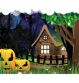 Scary monsters in the wood vector image vector image