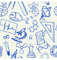 Science doodles seamless pattern vector image vector image