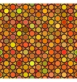 Seamless Multicolor Orange Shades Rounded vector image